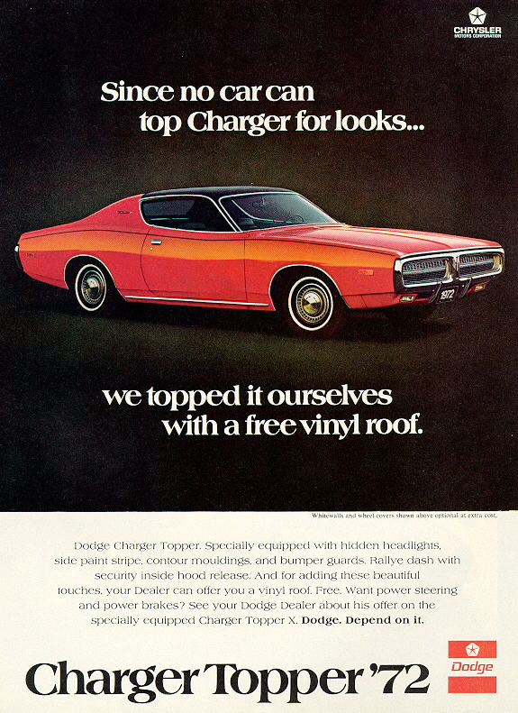 1972 Dodge Charger ad