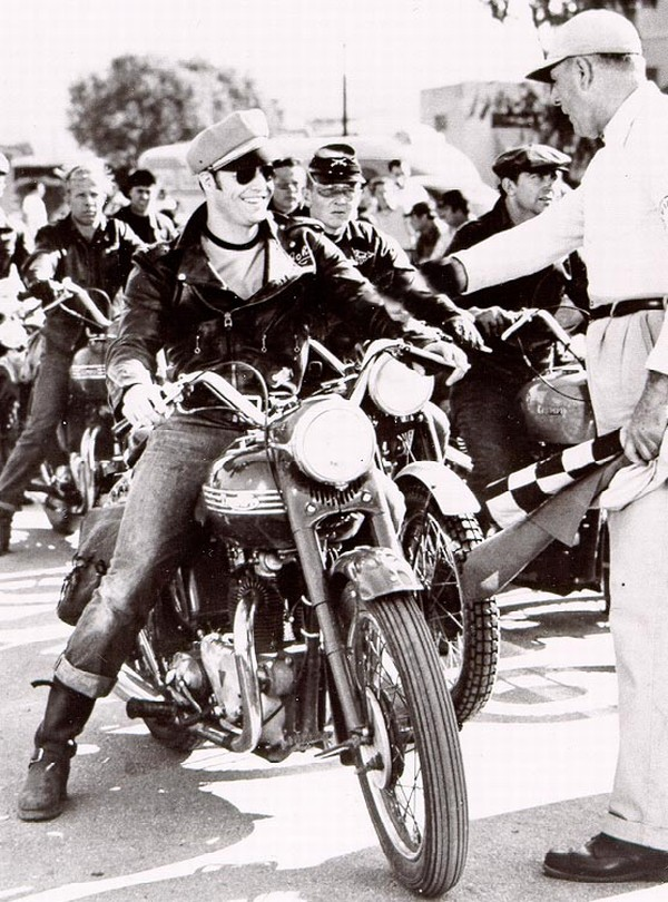 "Arguably the biggest boost for Triumph motorcycles came from Marlon Brando's 1954 movie ""The Wild One."" Riding his own 1950 Thunderbird, Brando portrayed motorcycle gang member Johnny in the film that started the biker-flick genre."