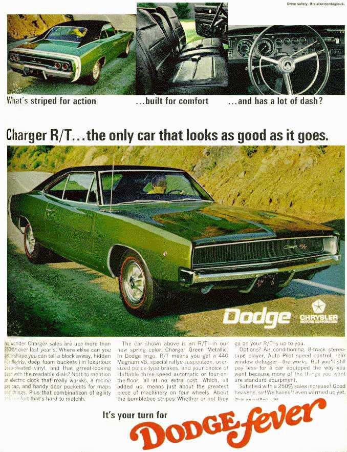 Dodge Charger vintage ad