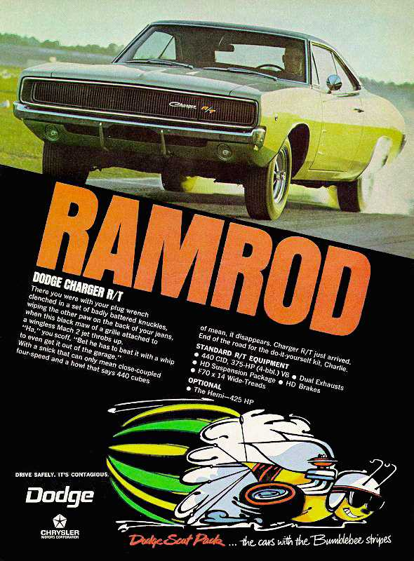 1968 Dodge Charger Ramrod ad