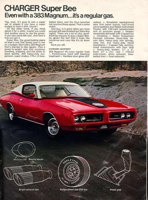 Vintage Dodge Charger brochure