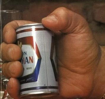 andre the giant beer can hand