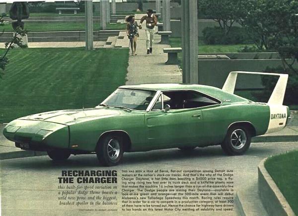 Dodge Charger Daytona-- going green.
