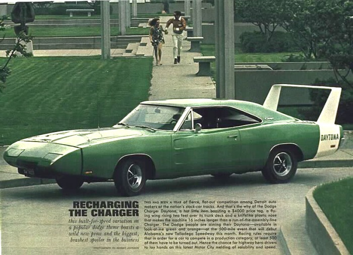 Dodge Charger Daytona-- going green.