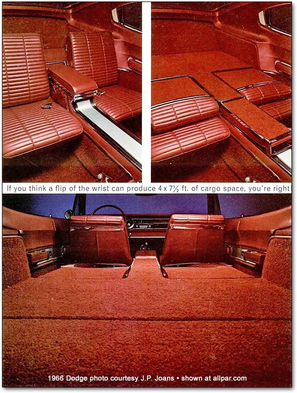 The 1966 Dodge Charger's amazing interior.