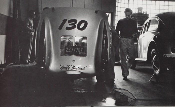 "ames Dean and his 1955 Silver Porsche Spyder-- ""Little Bastard"""