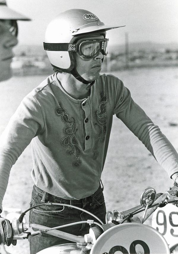 The legendary motorcyclist and Husqvarna rider-- Malcolm Smith.
