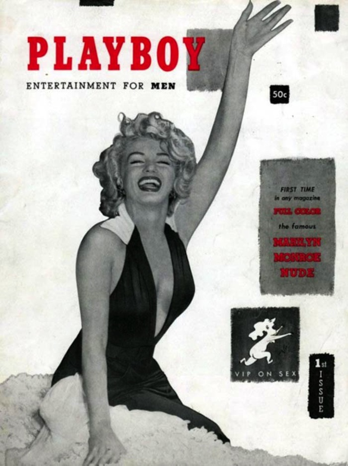 Marilyn Monroe playboy magazine cover