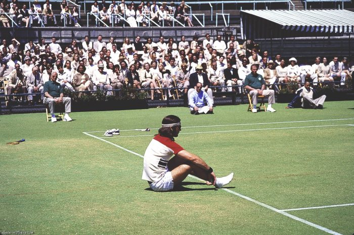 Luke Wilson as Richie Tenenbaum-- obviously highly based on Bjorn Borg's fashion sense, as well as some of his personal complexities.