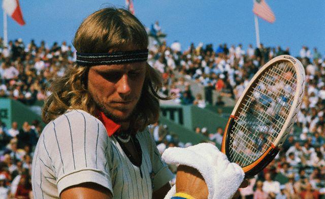 Swedish tennis star Bjorn Borg, 1976.