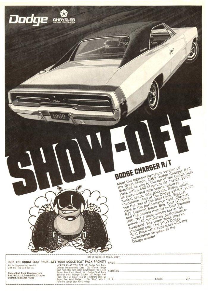 Vintage Dodge Charger ad