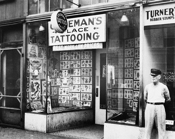 The forefathers of tattooing cap coleman paul rogers for Tattoo shops in nyc