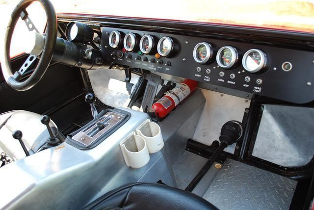 Interior of the off-road Hurst Baja Boot