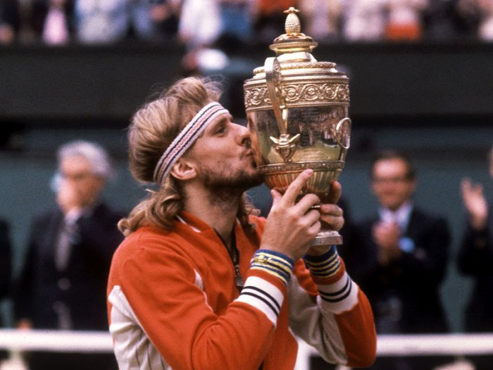 1980 Wimbledon men's singles champion-- Bjorn Borg.
