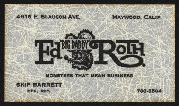"Ed ""Big Daddy"" Roth's business card"