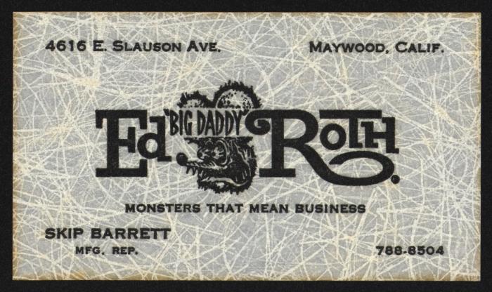 "Ed ""Big Daddy"" Roth's business card"