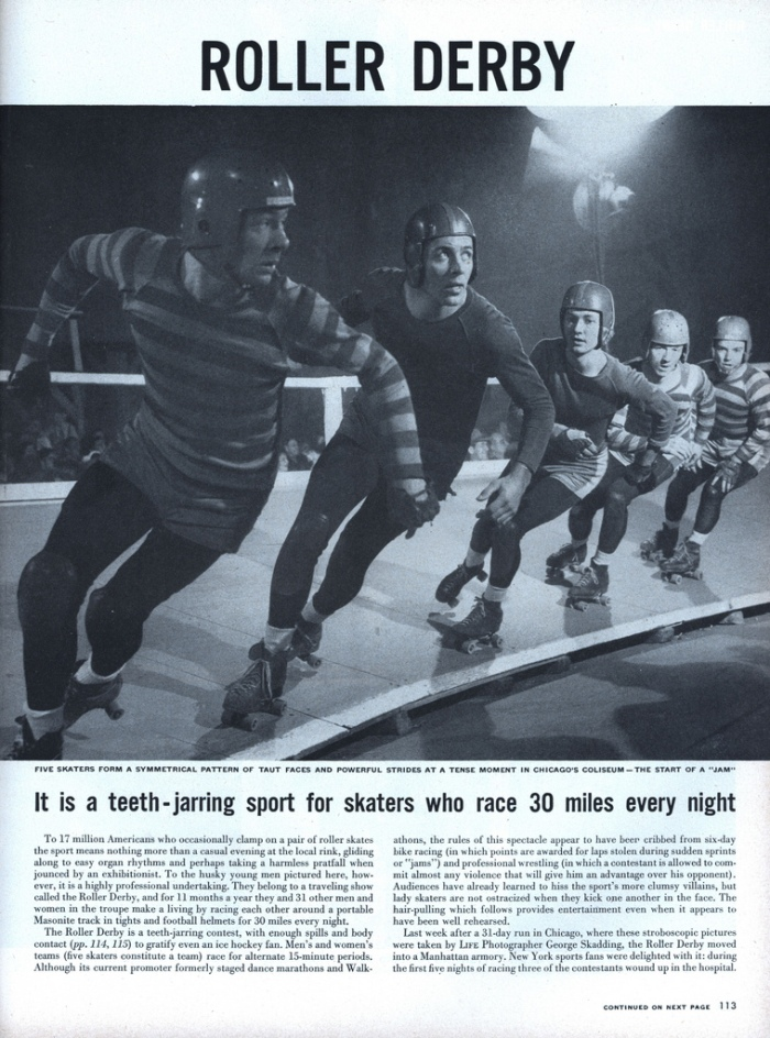 Life Magazine article on Roller Derby  --1948.