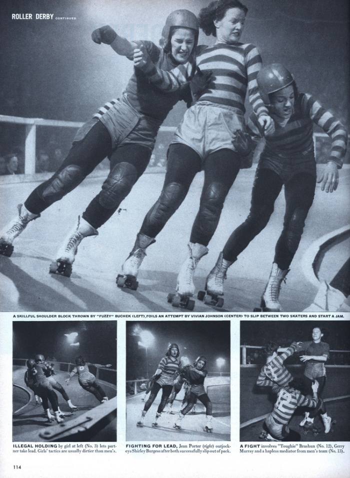 Roller Derby girls in Life Magazine  --1948.