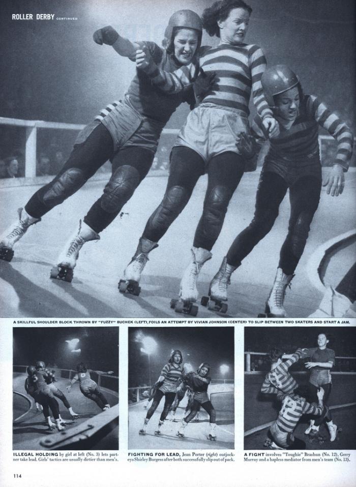 Roller Derby girls in Life Magazine  --1948.
