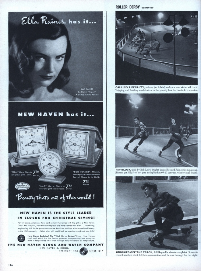 Roller Derby story in Life Magazine  --1948.