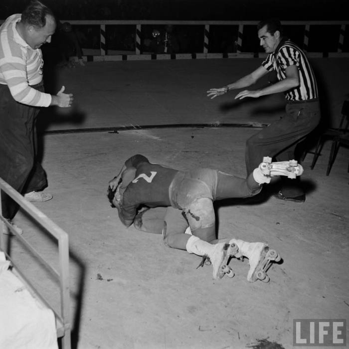 The Anti-American Roller Derby  --Paris, 1953.
