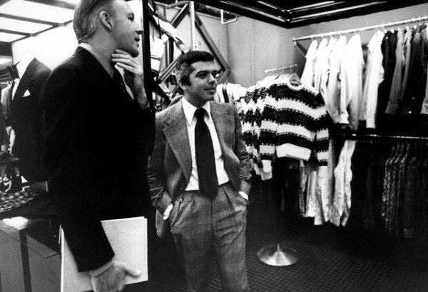 Ralph Lauren checking out the Polo boutique at Bloomingdale's  --1971.
