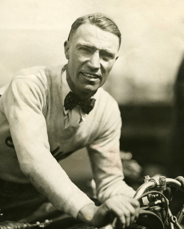 Motorcycle racing legend Jim Davis, circa 1931.