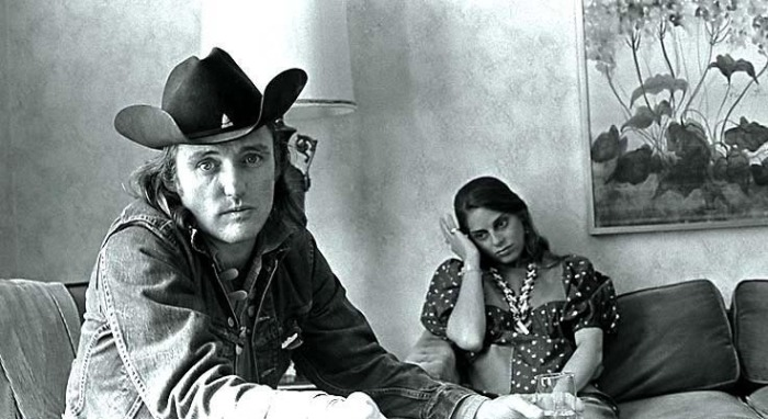 Dennis Hopper and wife Daria Halprin at the Jack Tar Hotel San Francisco.