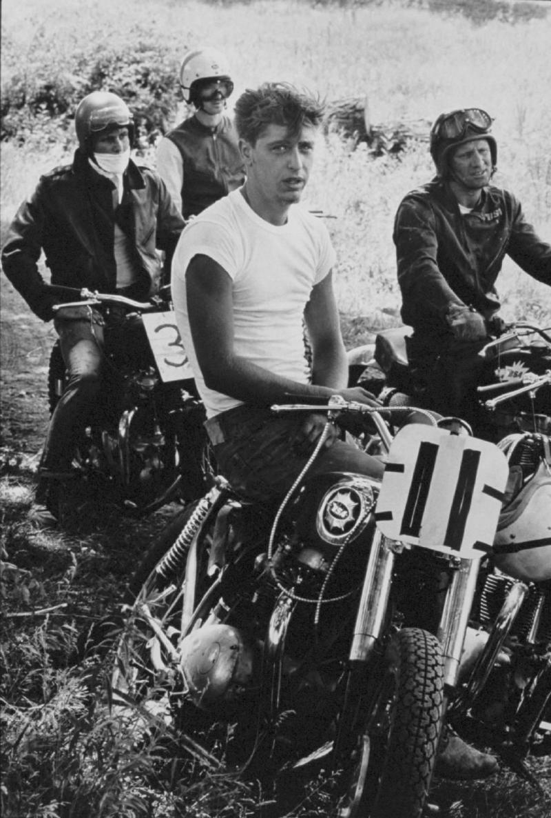"""Racers, McHenry, Illinois"" from The Bikeriders by Danny Lyon  --circa 1963-66."