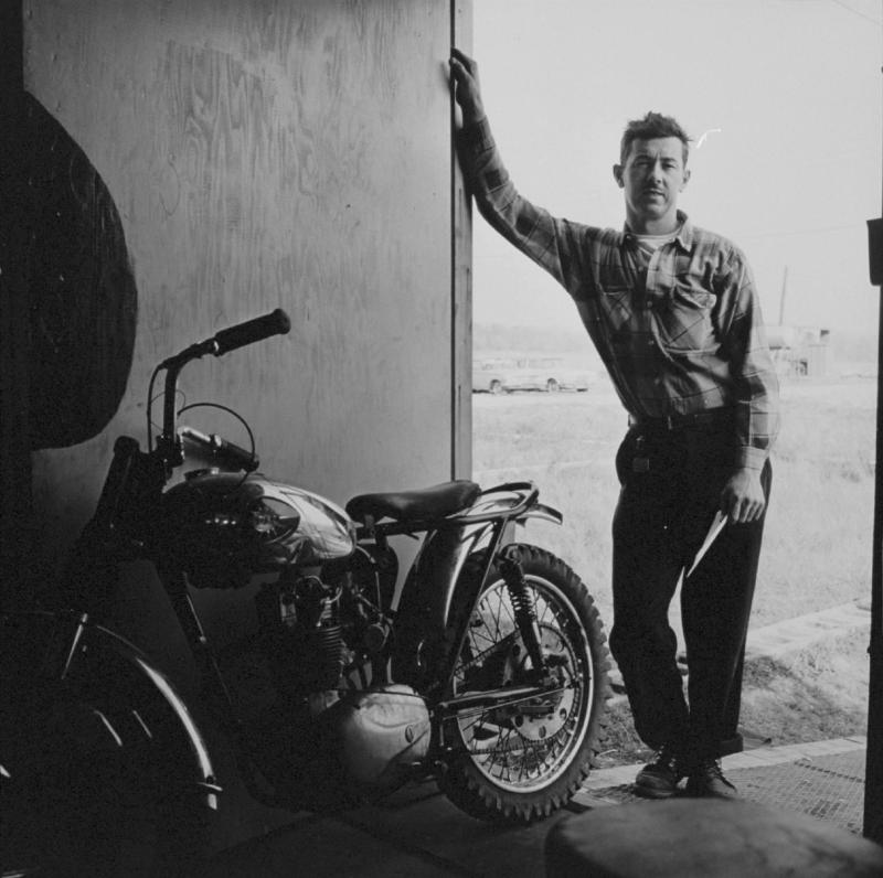 """Goodpaster, Hobart, Indiana"" from The Bikeriders by Danny Lyon  --circa 1963-66."
