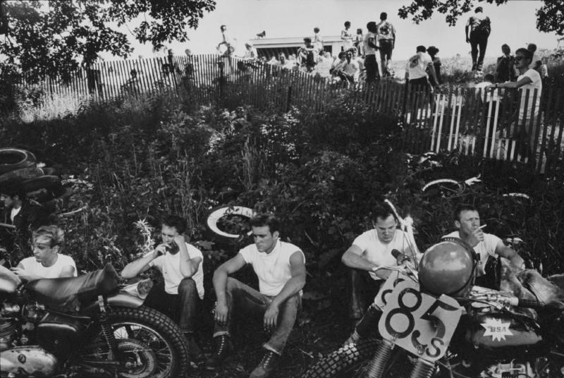 """Racers, McHenry, Illinois"" from the Bikeriders by Danny Lyon  --1965."