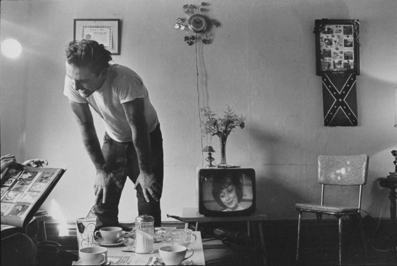 """Corky at home"" from The Bikeriders by Danny Lyon  --circa 1965-66."