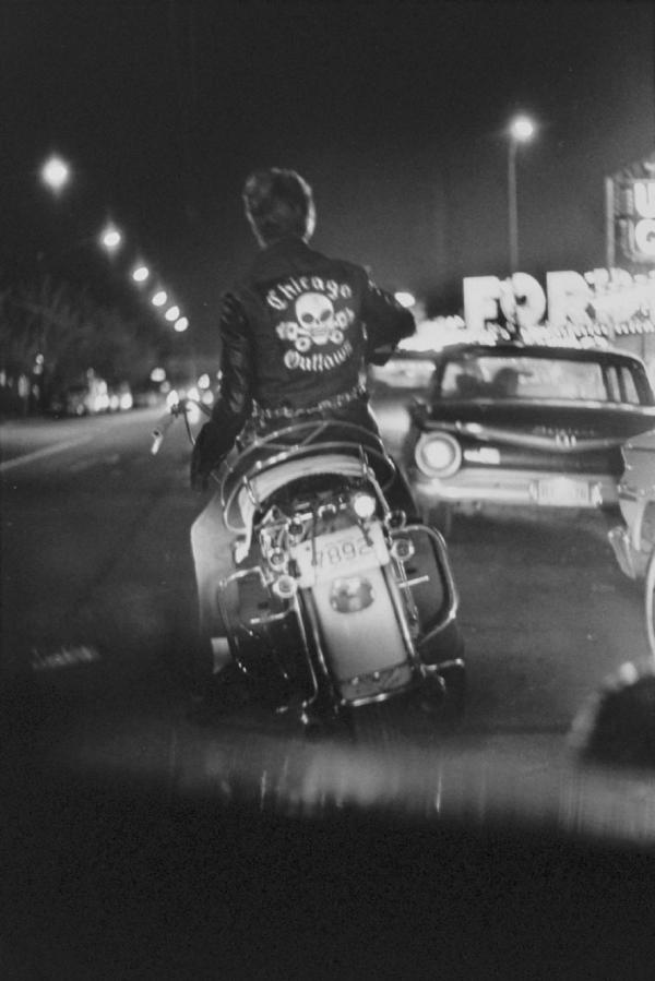"""Benny, Grand and Division, Chicago"" from The Bikeriders by Danny Lyon  --circa 1965-66."