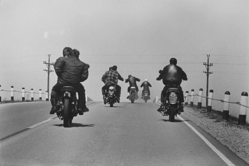 """Route 12, Wisconsin"" from The Bikeriders by Danny Lyon."