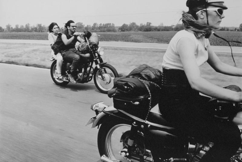"""From Dayton to Columbus, Ohio"" from The Bikeriders by Danny Lyon  --circa 1965-66."
