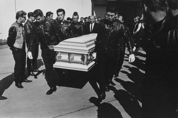 """Renegade's funeral, Detroit"" from The Bikeriders by Danny Lyon  --circa 1966."