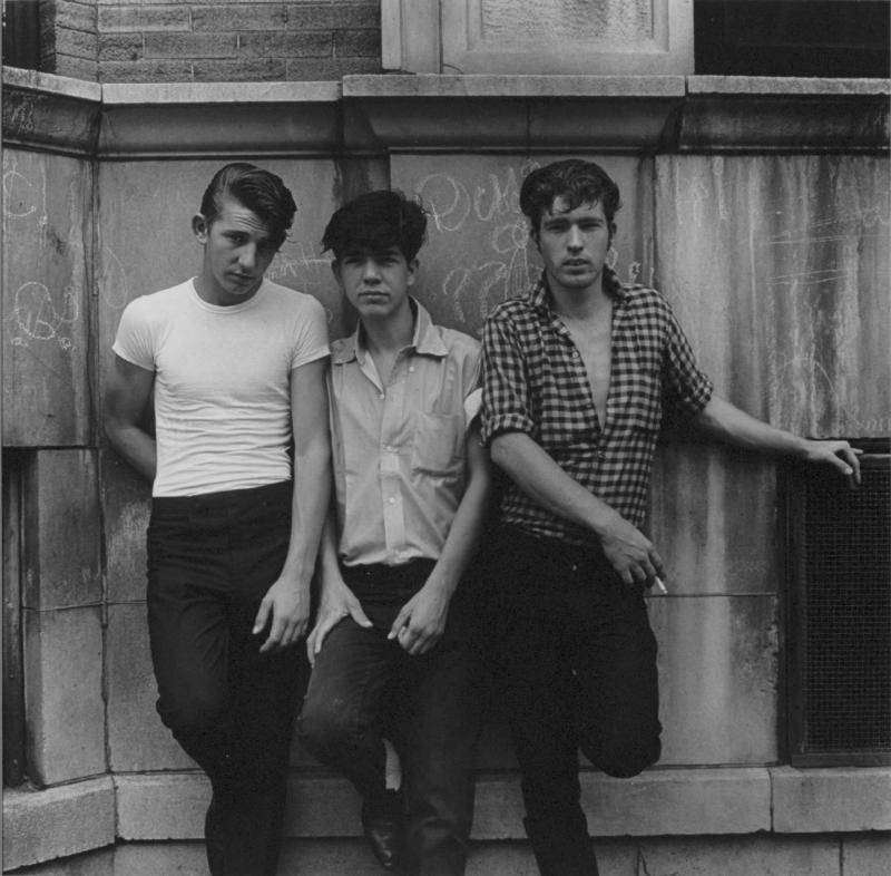 """Three young men, Uptown, Chicago"" Pictures from the New World by Danny Lyon  --1965."