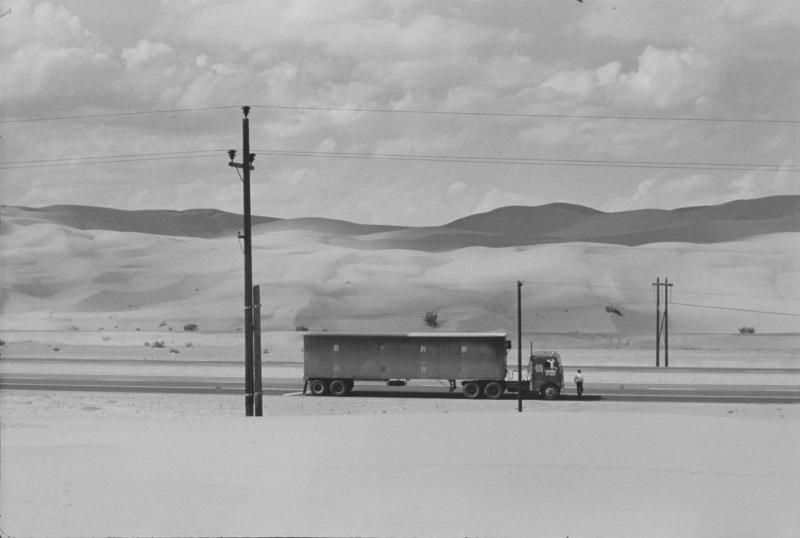 """Truck in the Desert, Yuma, California"" Pictures from the New World by Danny Lyon  --1962."