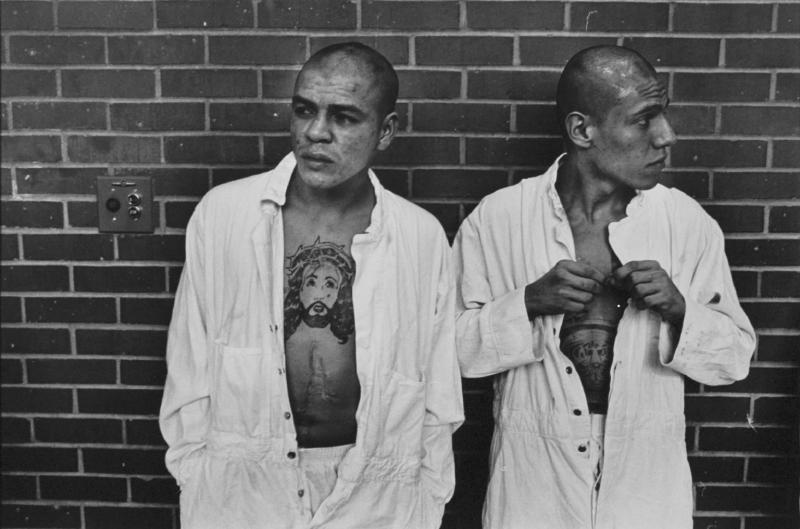"""New arrivals from Corpus Christi"" from Conversations with the Dead by Danny Lyon  --circa 1967-68."