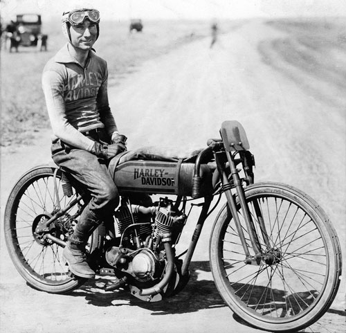 Fred Ludlow was a top board track motorcycle racer of the 1910s who made the transition to the dirt track.  Ludlow's greatest accomplishment came in September of 1921, when he won five national championships at the M&ATA finale on the dirt mile at Syracuse, New York.