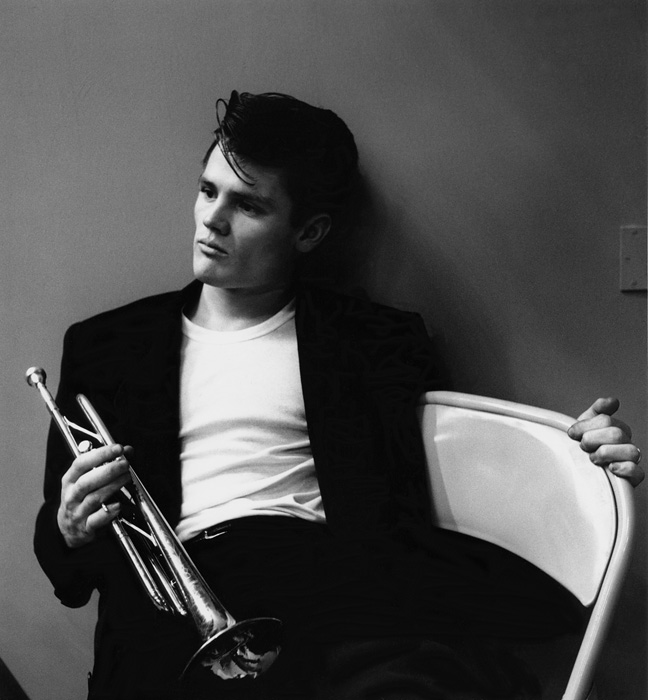 Chet Baker after a Los Angeles recording session (close) 1953  --Bob Willoughby