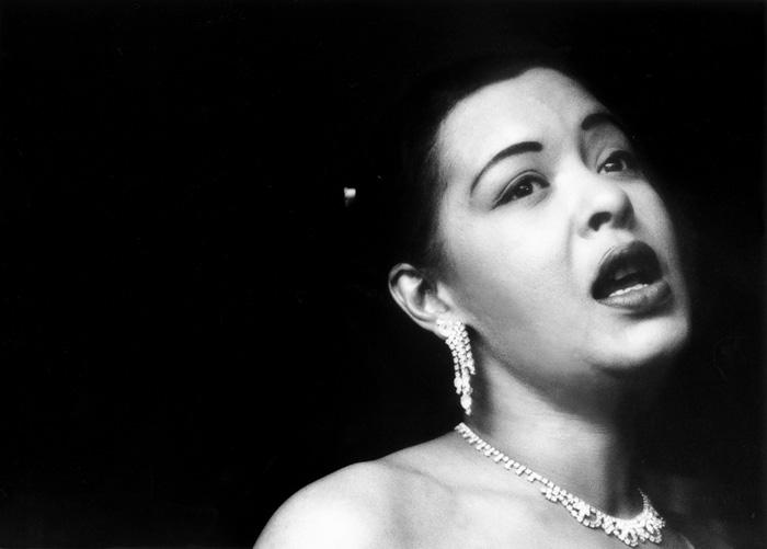 Billie Holiday, at the Tiffany Club, Los Angeles, 1951  --Bob Willoughby