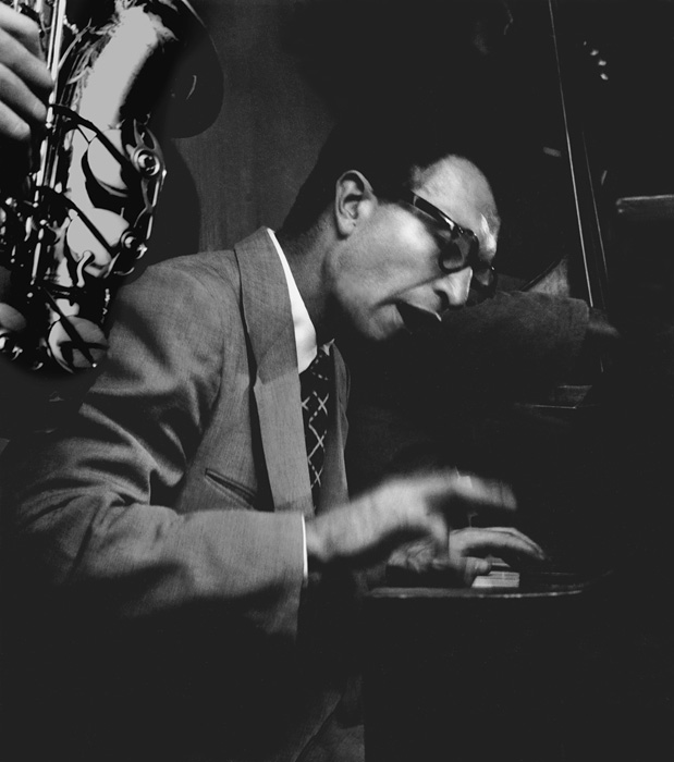 Dave Brubeck playing his first Los Angeles club date, 1951  --Bob Willoughby