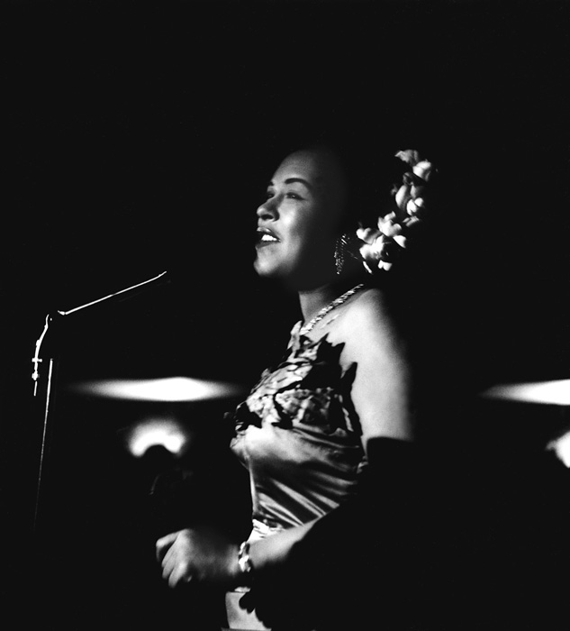 Billie Holiday, The Tiffany Club, Los Angeles, 1951  --Bob Willoughby