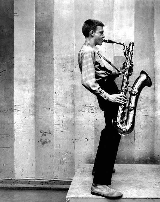 Gerry Mulligan, Los Angeles recording session, 1953  --Bob Willoughby