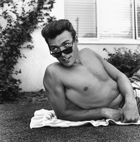 Clint Eastwood at home in California, ca. 1956.