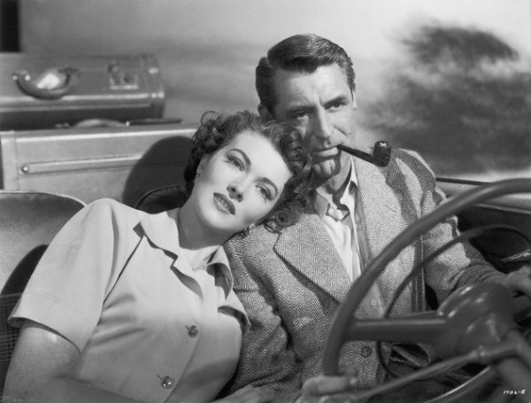 "Cary Grant in 1950's film ""Crisis""-- smoking and driving is legal, but imagine how many accidents have been caused over the years by folks fumbling for cigarettes, lighters, etc."