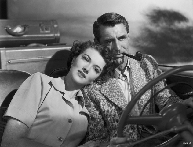 """Cary Grant in 1950's film """"Crisis""""-- smoking and driving is legal, but imagine how many accidents have been caused over the years by folks fumbling for cigarettes, lighters, etc."""