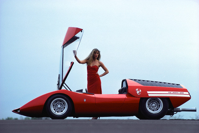 Pininfarina Fiat Abarth 2000 Scorpio concept car, ca. 1970.