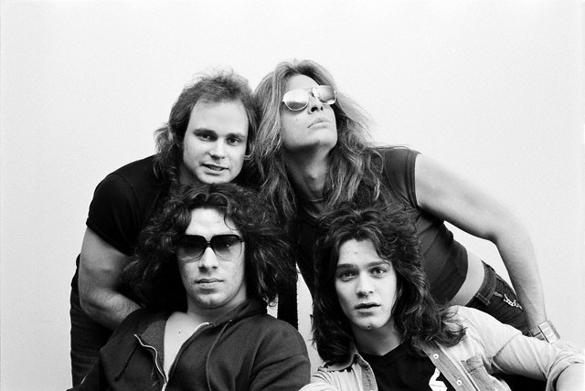 Michael Anthony, David Lee Roth, Alex Van Halen & Eddie Van Halen, circa 1977.